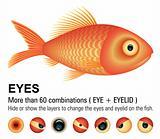 Fish overwhite (Vector Image)
