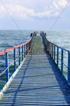 Old wooden sea pier