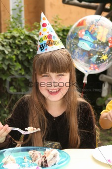 Little Girl Celebrating Her Birthday
