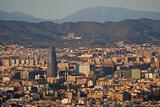 Panoramic view of Barcelona from Parc de Montjuic