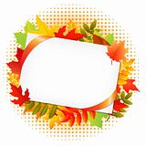 Autumn Leaf And Blank Gift Tag
