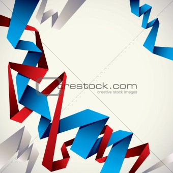 Abstract background with red and blue stripes.