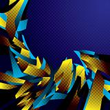 Abstract background with motion shapes.