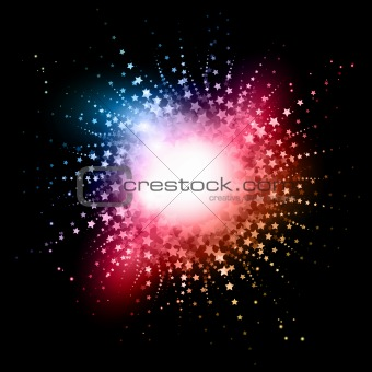Abstract starbust effect background