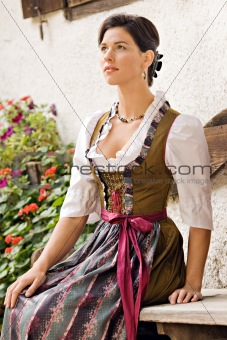 Bavarian girl costume in Holiday