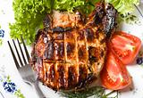 Grilled pork meat