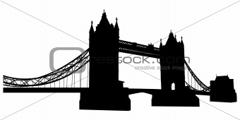 Bridge tower silhouette