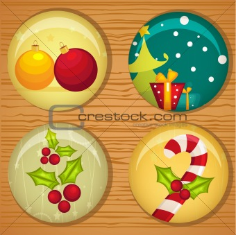 Cute Christmas badges