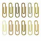 Golden paperclip collection