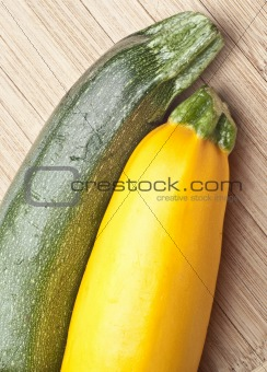Green and Golden Yellow Zucchini Squash