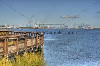 View of Industry from Riverfront Park