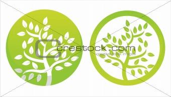 green floral symbols