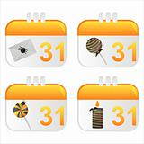 halloween calendar icons