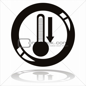 black thermometer button
