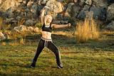 Tai Chi woman in park