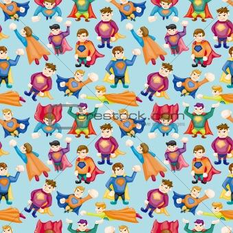 cartoon superman seamless pattern