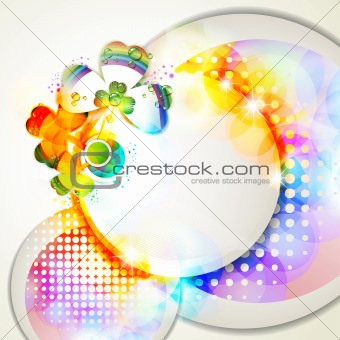 Abstract background with clover
