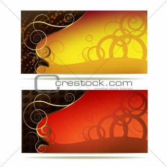 Background with gold decoration