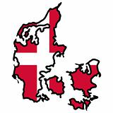 Map in colors of Denmark