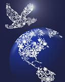 Christmas Peace Dove On Earth