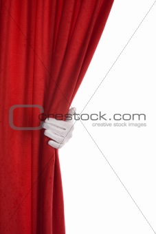 Red Curtain hand
