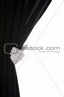 Black Curtain hand