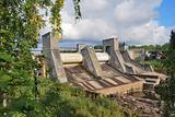 Imatra, Finland. Dam on the ancient river Vuoksi