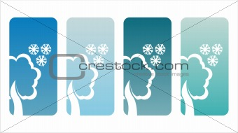 winter tree banners