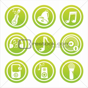 green musical tools signs