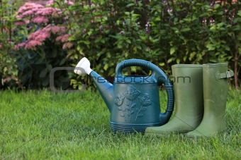 Watering Can and Boot