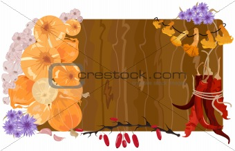 Autumn vector still life