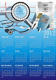 calendar with medical equipment