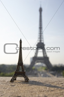 Eiffel Tower With Model,Paris,France