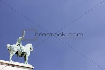 France,Paris,Statue Outside Basilique Du Sacre Coeur