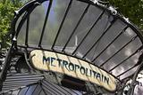 France,Paris,Entrance To Metro Station