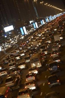 Dubai,Congestion At Night