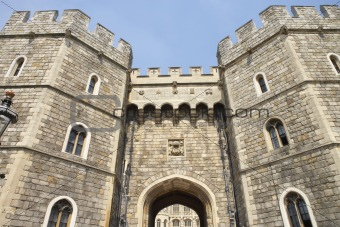 Exterior View Of Windsor Castle