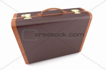 Old dark suitcase