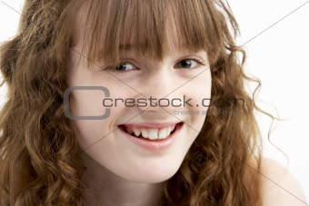 Portrait Of Happy Young Girl