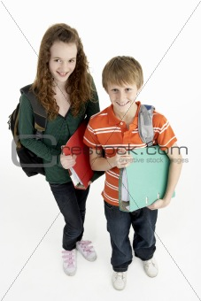 Portrait Of Young Male And Female Students