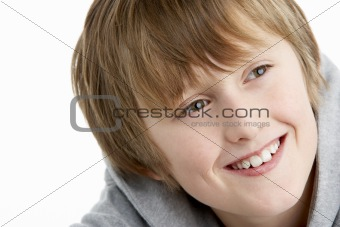 Portrait Of Smiling 10 Year Old boy