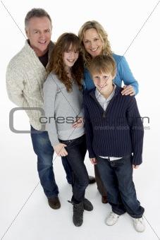 Portrait Of Family In Studio