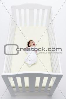 Newborn Baby In Cot