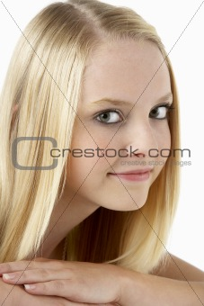 Portrait Of Smiling Teenage Girl