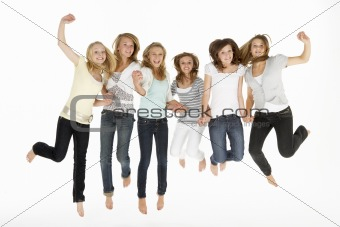 Group Of Teenage Girlfriends