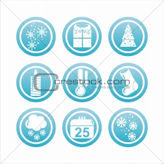 blue christmas signs