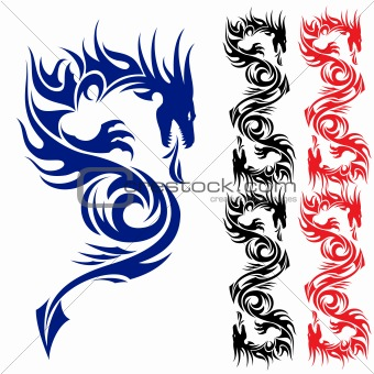 Asian tattoo dragon.