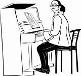 a woman pianist in glasses