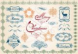 christmas frames and borders, vector
