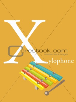 Colorful abc, letter X